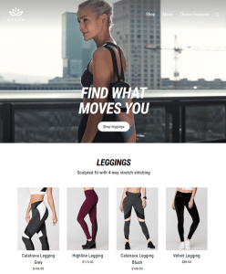 best shopify themes athleisure wear workout clothes feature