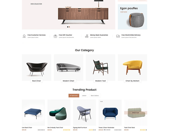 best shopify themes for online furniture stores feature