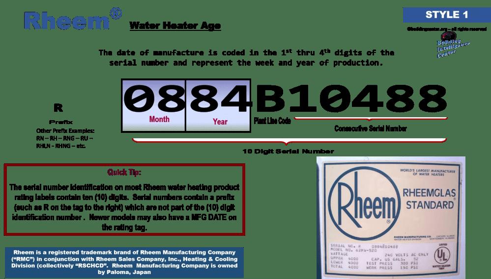 medium resolution of rheem water heater age building intelligence center wiring diagram rheem water heaters model 81v52d