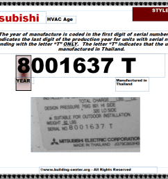 year of manufacture can be determined using the first digit of the serial number which indicates the last digit of the production year for units with serial  [ 1016 x 788 Pixel ]