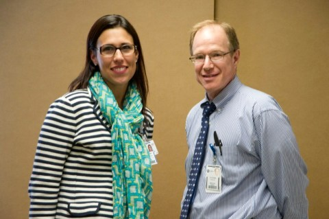 Drs. Melissa Mancuso and Stephen Crane are two of Akron Children's high-risk obstetricians.