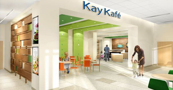 Rendering of the Kay Kafé.