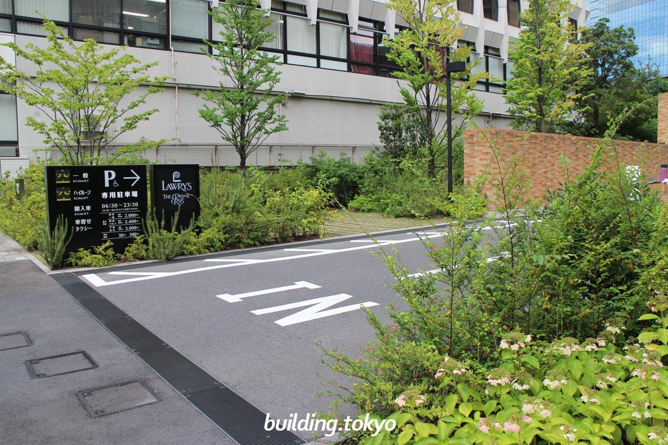 赤坂インターシティAIR、駐車場入り口。