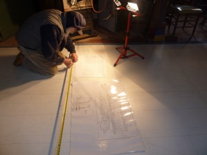 Laying out heights from the baseline for defining the sheer line