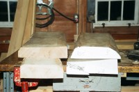 One side of these rough-sawn boards will first be flattened on the jointer