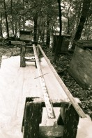 The rails came from a Philadelphia company that sells used material handling equipment