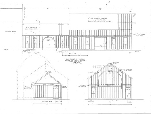 Plans I drew for the workshop and breezeway.