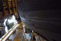 Detail of planks near the aft end.