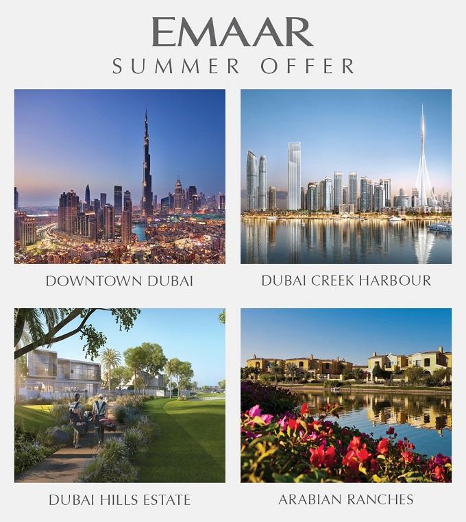 Emaar Summer Offer Downtown Creek Harbor Dubai Hills Estate Arabian Ranches