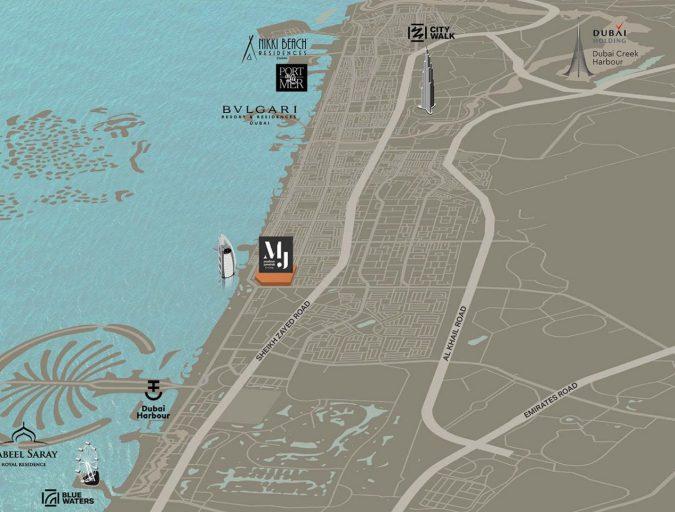 Madinat Jumeirah Living Map