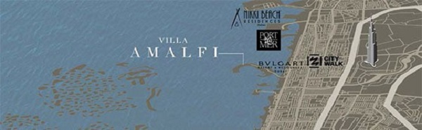 Amalfi Villas by Meraas Dubai Location Map