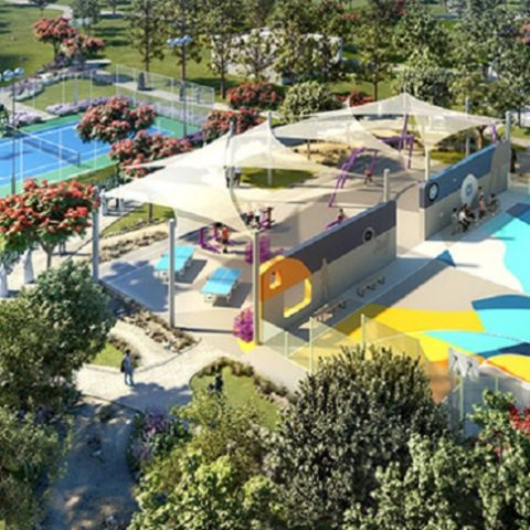 Dubai Hills Park at Dubai Hills Estate - Activity Area and Gym