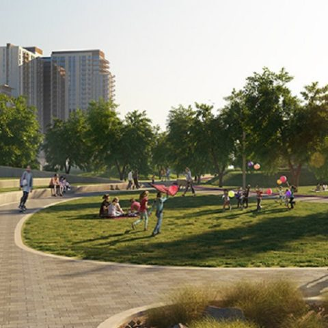 Dubai Hills Park at Dubai Hills Estate - Picnic Areas