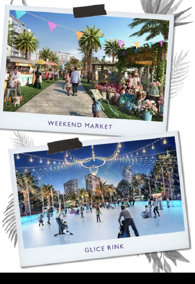 Dubai Hills Park at Dubai Hills Estate - Weekend Market - Glice Rink