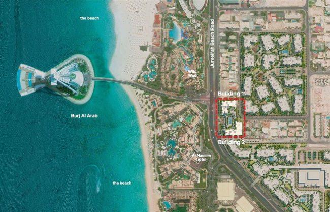 Madinat Jumeirah Living Building Location