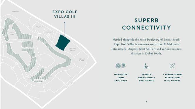 Expo Golf Villas by Emaar - Location