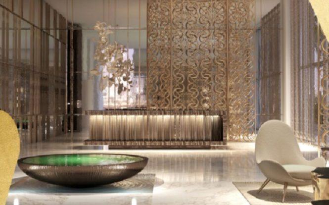 Elie Saab Branded Apartments in Emaar Beachfront.- Lobby