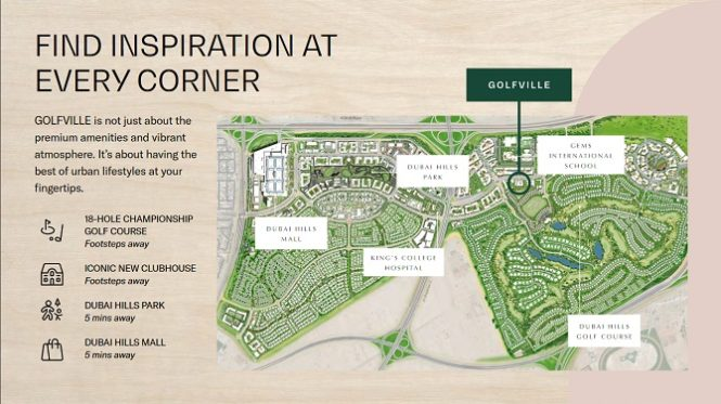 Golfville Apartments at Dubai Hills Estate by Emaar - Amenities