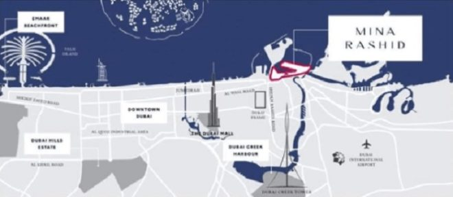 Sirdhana at Mina Rashid by Emaar Location Map