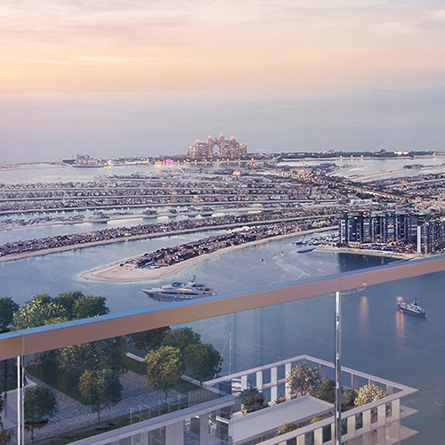 South Beach Waterfront Homes at Emaar Beachfront - View of Dubai Marina and the Palm