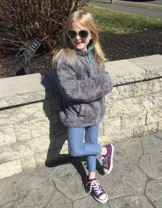 Granddaughter Lily stylin'