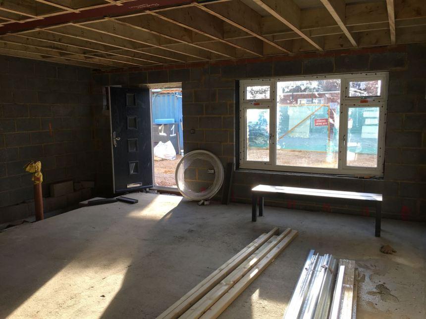 Downstairs window and door