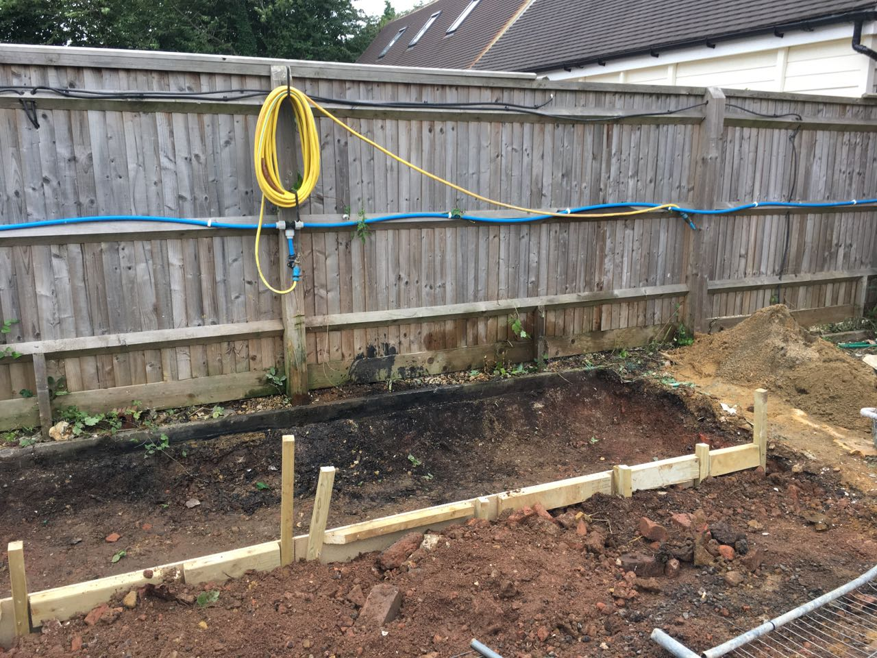 Bin store foundation and setting out