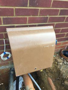 Gas meter housing cabinet box