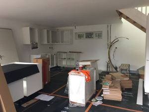 Kitchen installation with all parts