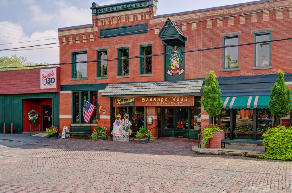 The historic German Village in Columbus, Ohio.