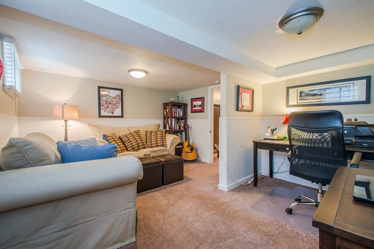 Basement living room renovation