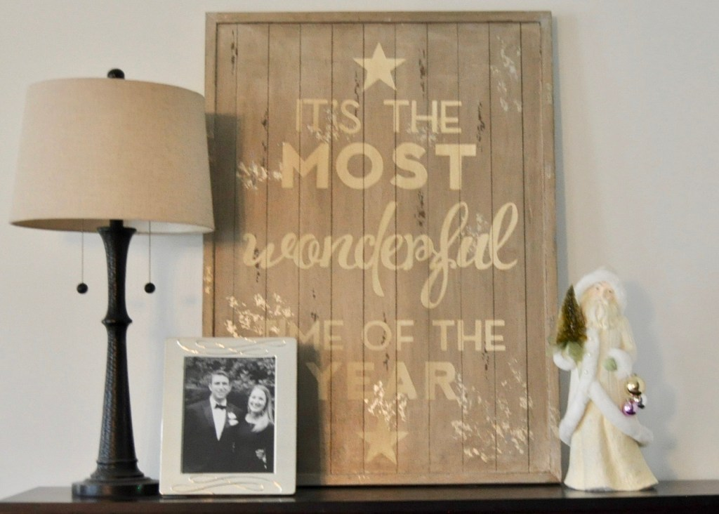 It's the most wonderful time of the year Pottery Barn artwork