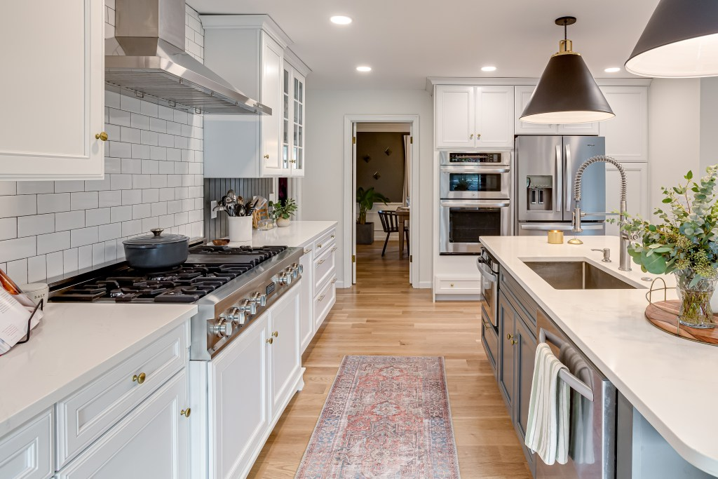 When renovating a kitchen, remove the soffits to open the space