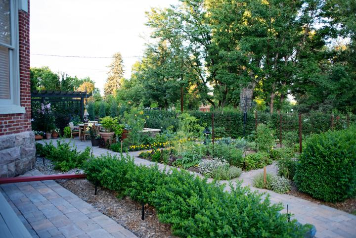 Stunning front yard garden at the historic Bosler House