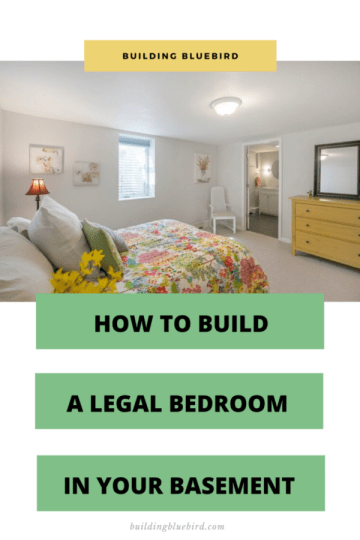 Building a legal bedroom in your basement on a budget #homerenovation #diy