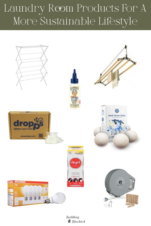 Laundry room products to try with a more sustainable lifestyle   Building Bluebird #greenliving
