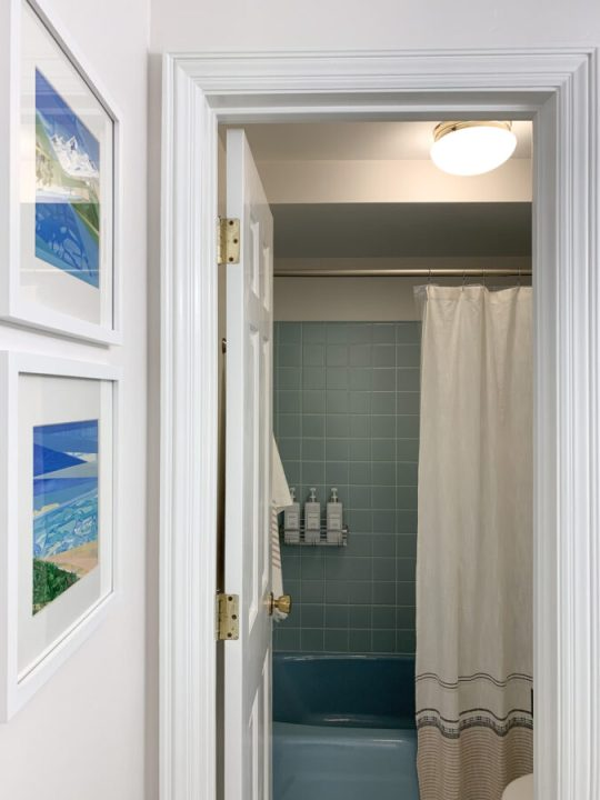 How to add function and style to a retro bathroom | Building Bluebird #bluetile