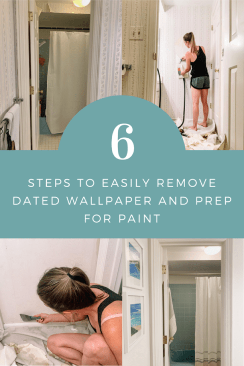 Follow this easy tutorial to quickly remove wallpaper and prep your space for paint | Building Bluebird #diy #homerenovation