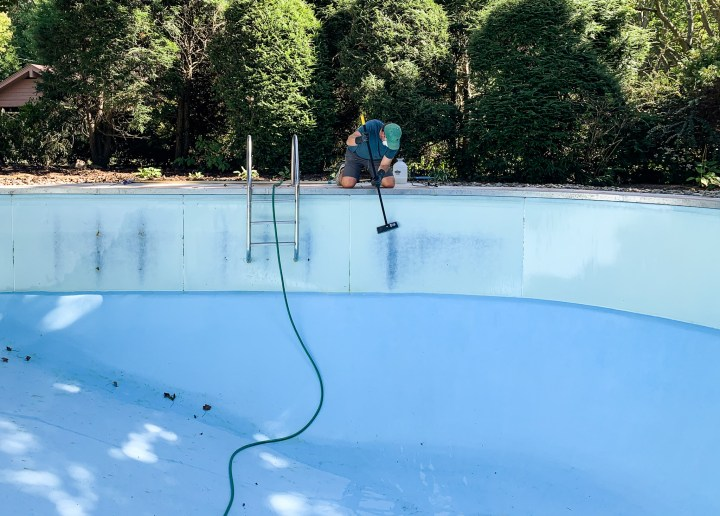 How to clean your pool before painting | Building Bluebird