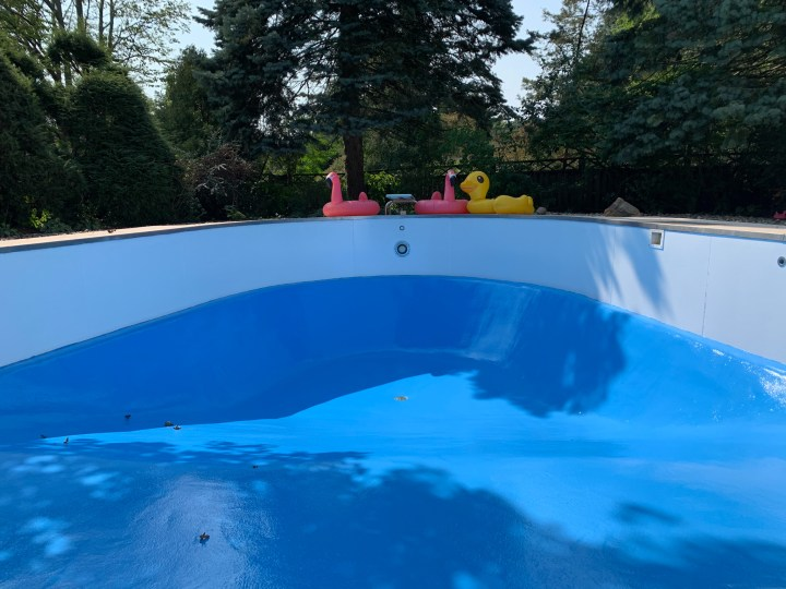 Blue heaven epoxy paint for the pool | Building Bluebird