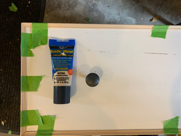 Fix imperfections with wood filler and a sanding block | Building Bluebird #ikeahack #hemnes #diy