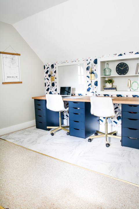 DIY desk using Alex drawer units | Building Bluebird #ikeahack