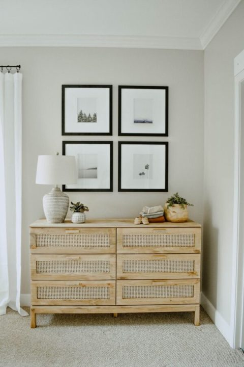 Tarva dresser with DIY caning | Building Bluebird #ikeahack