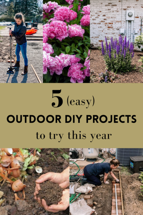 Easy DIY projects to try this year | Building Bluebird #englishgarden #gardening #curbappeal #diy #pool