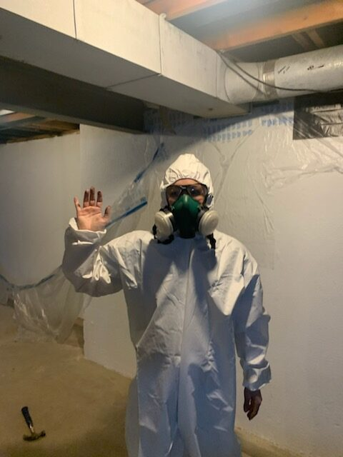 Step-by-Step process for painting an exposed basement ceiling | Building Bluebird #paintsprayer #basementmakeover