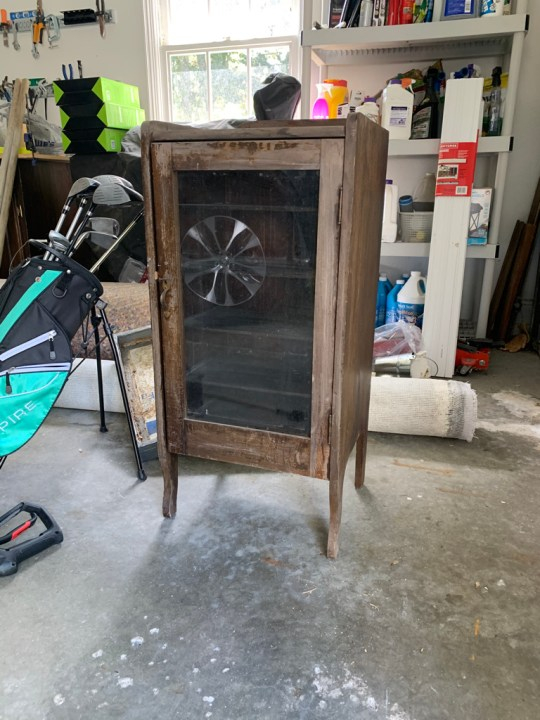 Old cabinet to hold records in our living room | Building Bluebird #oneroomchallenge #bhgorc