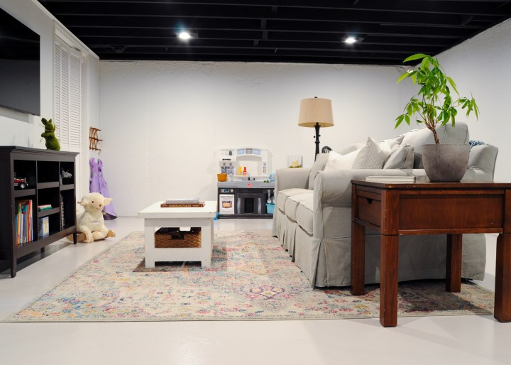 Add functional living space in your unfinished basement with these affordable DIY projects | Building Bluebird