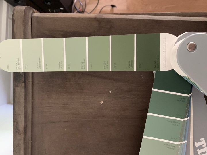 How to refinish and old cabinet with paint and bring it back to life | Building Bluebird #sw6180 #sherwinwilliams #diy #oakmoss