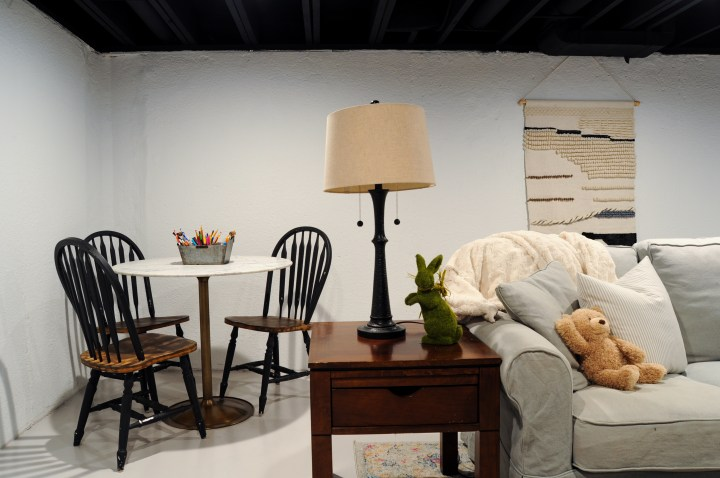Affordable unfinished basement ideas and DIYs to create a beautiful, livable space on a budget | Building Bluebird