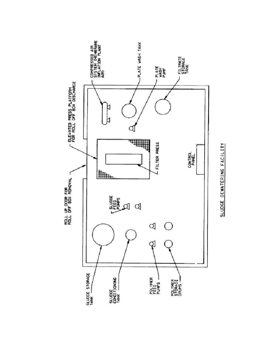 Figure 2-12. Floor Plan Single Filter Press Dewatering System.